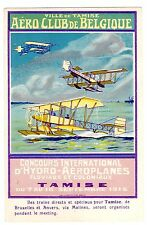 POSTCARD BELGIAN AVIATION CLUB 1912 HYDROPLANE INT'L CONCOURS IN TAMISE