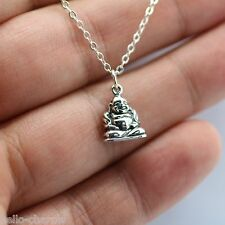 HAPPY BUDDHA NECKLACE - 925 Sterling Silver Yoga Spirit Lucky Feng Shui Charm