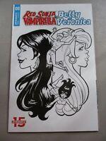 Red Sonja Vampirella Meet Betty Veronica #8 1:10 B&W Parent Variant NM