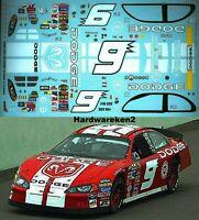 NASCAR DECAL # 9 DODGE DEALERS HAT SCHEME 2004 DODGE KASEY KAHNE JWTBM