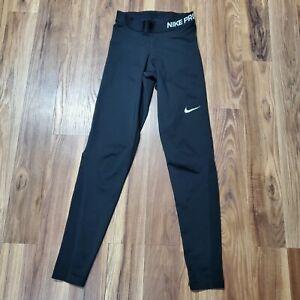 Nike Pro Hyper Cool Leggings Dri-Fit Size XS Black Training 725477-010