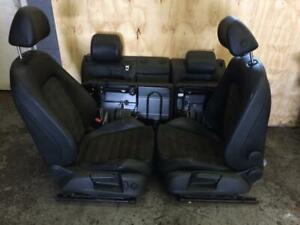VW PASSAT B6 2005-2011 COMPLETE HALF BLACK LEATHER HEATED SEATS FRONT AND REAR