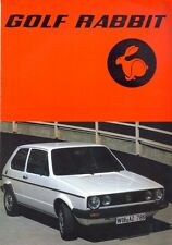 Volkswagen Golf Rabbit Mk 1 sales brochure French market 1983