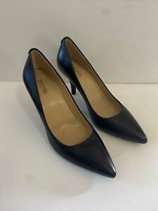 NWOB Michael Kors 8.5M Black Leather Heels Stiletto New Without Box