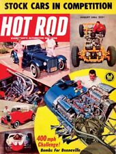 HOT ROD 1961 AUG - INDY 500, BONNEVILLE, WORLD 600