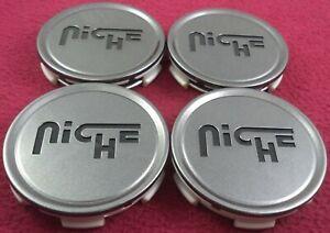 Niche Wheels Gloss Gray Custom Wheel Center Caps Set of 4 # 1003-22 / CAP M-773