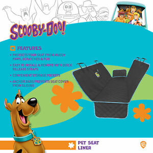 Scooby Doo Dog Car Seat Cover for Rear Bench Hammock Seat Interior Protector Pet