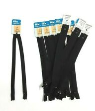 12Pcs of 8 Inch YKK Black Auto Lock Close End Zippers Thai Tailor Sewing Craft