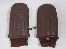 Vintage Kombi Ladies Brown Leather Mittens