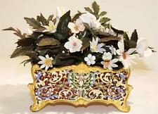 Antique French Champleve Gilt Bronze Cache Pot/Planter circa 1880s