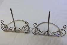 Antique Victorian Solid Silver Pair Of Menu Holders By William Comyns 1895