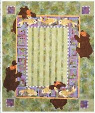 Java House Quilts We Bearly Made It Bear and Fish Applique Quilt Pattern