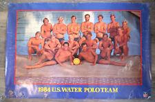 Vintage 1984 U.S. Men's Water Polo Team Poster  24x36