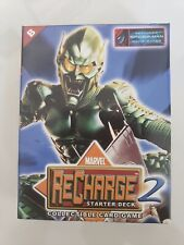 MARVEL RECHARGE 2 STARTER DECK COLLECTIBLE CARD GAME GREEN GOBLIN 2002 NEW!