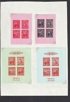 Cinderellas - Lundy 4 Puffin stamp minisheets