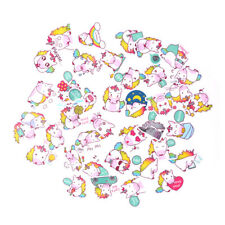40pcs Cute Waterproof Unicorn Scrapbooking Stickers Decorative DIY Diary Gift EB