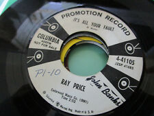 """Ray Price """"It´s all your fault"""" US Columbia Single 45 Honky Tonk shuffle"""
