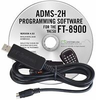 YAESU ADMS-2H-USB Software & Cable For FT-8900 to USB