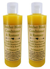 Butcher Block Natural Conditioners (2) 8 Oz Walnut Oil & Beeswax NO MINERAL OIL