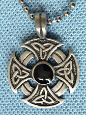 CELTIC CROSS PEWTER PENDANT MENS BOYS WOMENS GIRLS NECKLACE small CHAIN PC029 sc
