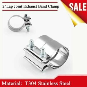 """2.0"""" Joint Band Clamp Strap Stainless Steel for Car Muffler Exhaust Downpipes"""