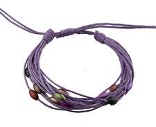 Bracelet multi fils mauve perles pastel tous poignets-Line bresilien Wrap 932