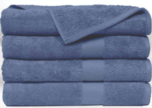 "SPRINGFIELD LINEN Premium Hotel & Spa Bath Towel Cotton 30"" x 56"",Set of 4"