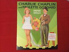 Charlie Chaplin Paulette Goddard Paper Dolls New