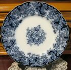 Flow Blue with Gold ORMONDE 10  Dinner Plate by Alfred Meakin England  Beautiful