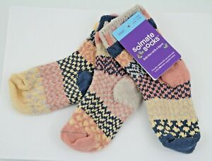 Solmate Mismatched Pair & Spare Cotton Crew Socks Pearl NWT Child Size Small