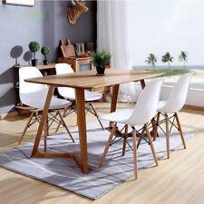 4 X Wohnzimmerstuhl Esszimmerstuhl Bürostuhl Retro Design Kunststoff Weiß Chair