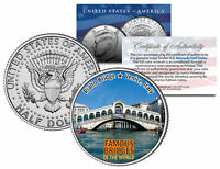 RIALTO BRIDGE * Famous Bridges * Colorized JFK Half Dollar US Coin Venice Italy