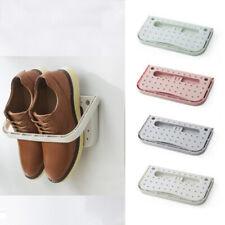 Home Wall Mount Shoes Rack Folding Hanging Shoe Shelf Holder Space Organizer 1pc