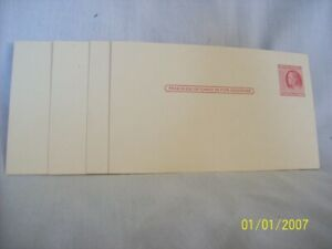 Franklin 2 cent postcard mint, unused x 4