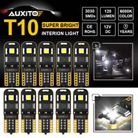 10X LED Bulb For Car Interior Light CANBUS T10 501 194 168 W5W Wedge Super White