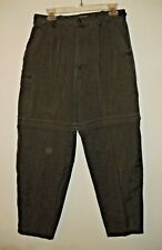 WOMENS TRAVELSMITH GREEN CONVERTIBLE CARGO TRAVEL PANTS W31/L28.5 ZIP OFF LEGS