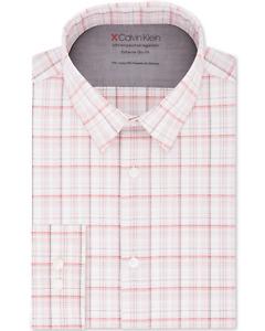 Calvin Klein Men's Extra-Slim Fit Non-Iron Dress Shirt Size 15-15 1/2