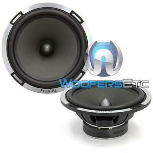 """PAIR OF FOCAL 6PS-2 OHM 6.5"""" CAR AUDIO MIDRANGE SPEAKERS FROM PS-165V COMPONENTS"""