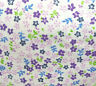 """SMALL FLOWER PRINT WHITE POLY COTTON FABRIC 60"""" BY THE YARD FLORAL DAISY PRINT"""