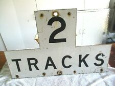 """Railroad """" 2 Tracks """" Full Size Steel Warning Crossing Sign With Reflective Coat"""