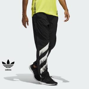 MEN'S ADIDAS RUNING DECODE PANTS AEROREADY GRAPHICS BUTTONS STRETCH REFLECTIVE S
