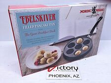 NEW Ebelskiver Filled Pancake Pan by Nordic Ware w/ The Great Breakfast Book Y22