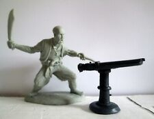 Barzso Barbary Coast Arab Pirate with a Deck Gun 54mm 1:32 Toy soldier Barzo
