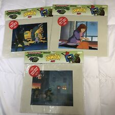 Lot Of 3 1991 TEENAGE MUTANT NINJA TURTLES Animation Art CEL Mikey/Leo/Donatello
