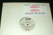 "THE SYSTEM Coming to America 12"" RECORD RARE PROMO + sticker 1988 Eddie Murphy"