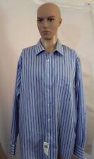 Men's NWT $65 Kohl's Chaps Big & Tall 18 1/2 36/37 Dress Casual Polo Shirt Strip