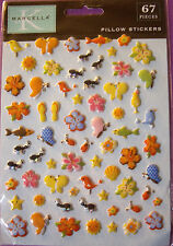 NEW 67 pc TRAVEL BUG PILLOW STICKERS Butterfly Beetle Ant Bird Flower  K & CO