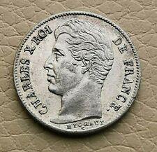 N°1 - Charles X  1/2 Franc 1929 A Paris SUP !!!