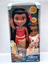 New DISNEY PRINCESS Moana Adventure Doll & Pua Doll Set NIB