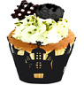 12Pcs Halloween Spider Cupcake Wrappers Paper Cake Topper Favor Party Decoration